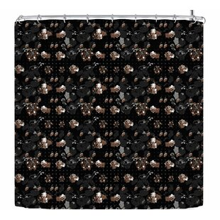 Elena Ivan - Papadopoulou Floral Series Goldy Single Shower Curtain