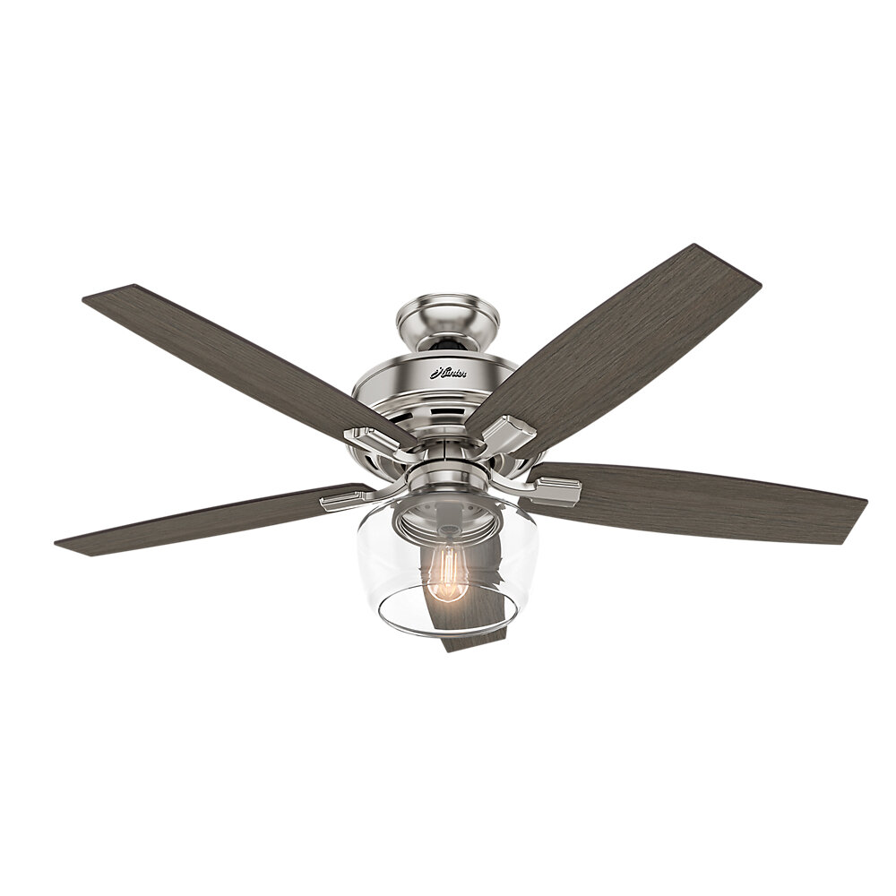Hunter Fan 52 Bennett 5 Blade Led Ceiling With Remote Reviews Wayfair