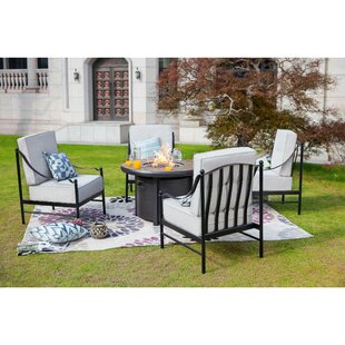 Bejou 5 Piece Multiple Chairs Seating Group with Cushions