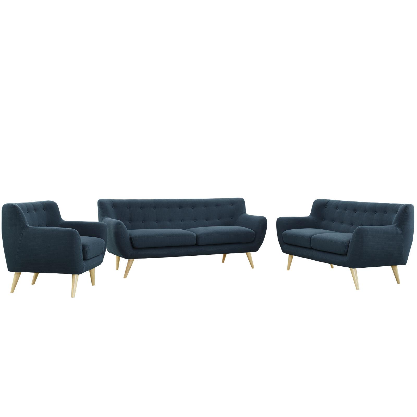 Stevie 3 Piece Living Room Set Reviews Allmodern