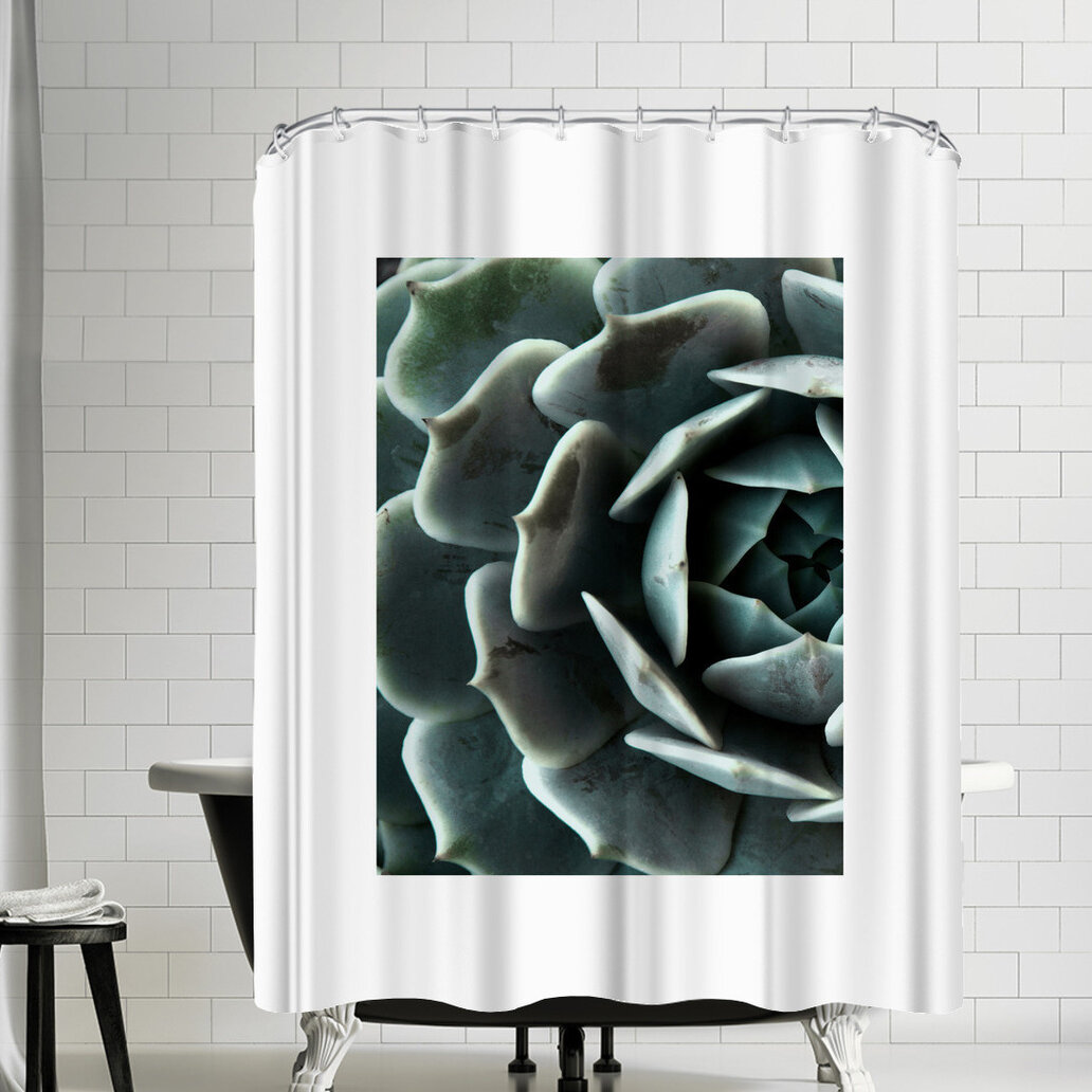 East Urban Home Nauda Succulent Shower Curtain Wayfair