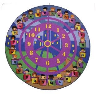 Clearance Fun Time Wheel of Fun Purple Area Rug ByFun Rugs