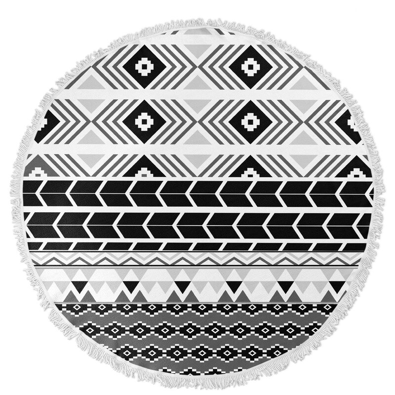 a29beb915 Kavka Tribal Round Beach Towel | Wayfair