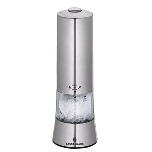 Gera Stainless Steel/Acrylic Electric Salt Mill