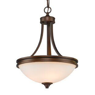 Inexpensive Russell Farm 3-Light Bowl Pendant By Three Posts