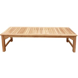 Costello Backless Teak Garden Bench by Highland Dunes Sale