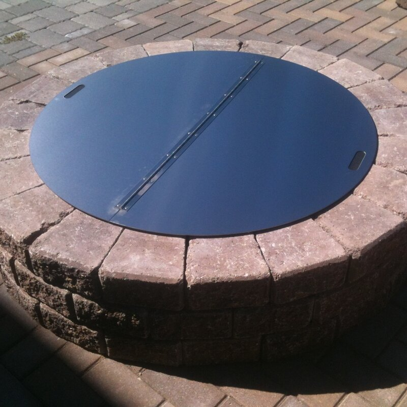 metal fire pit cover. Round Snuffer Fire Pit Cover Metal O