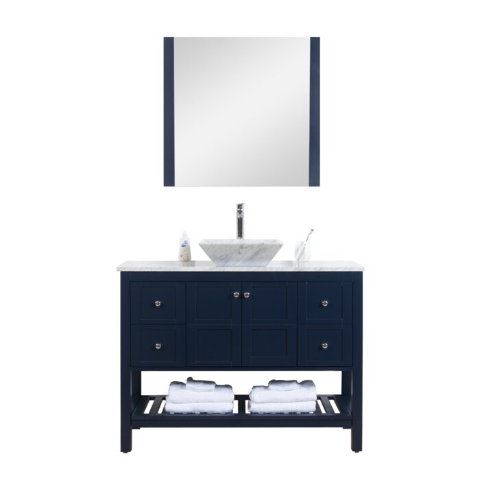 Lakeville Carrara 47 Single Bathroom Vanity Set With Mirror