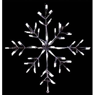Lighted snowflake wayfair snowflake led lighted display workwithnaturefo