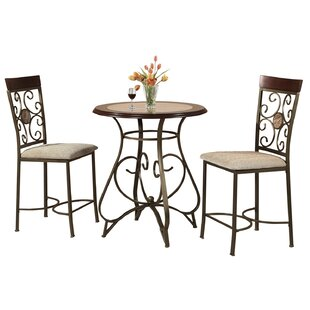 Armisen 3 Piece Counter Height Dining Set Red Barrel Studio