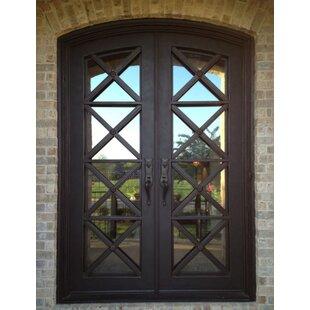 Kyril Premium Arch Top Iron Prehung Front Entry Door