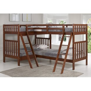 Crescent Twin Over Twin L-Shaped Bunk Bed by Harriet Bee Coupon