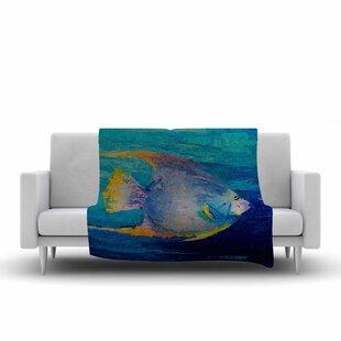 Carol Schiff Tropical Fish II Painting Fleece Blanket ByEast Urban Home