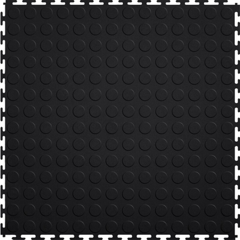 Mats Inc Protection Coin 21 X 21 Garage Flooring Tile In Black Wayfair