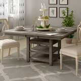 Jarod Extendable Pine Solid Wood Dining Table by Laurel Foundry Modern Farmhouse