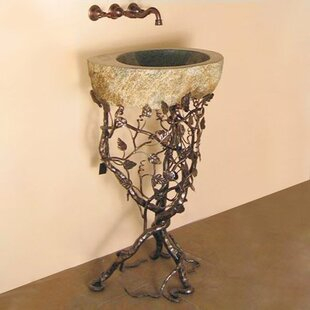 Find the perfect Aspen Metal 22 Pedestal Bathroom Sink By Quiescence