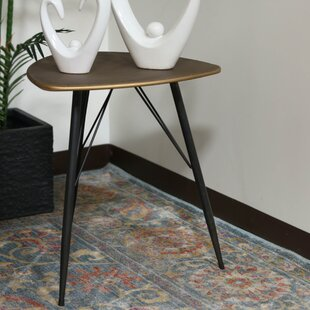 Petersham Triangular Metal End Table