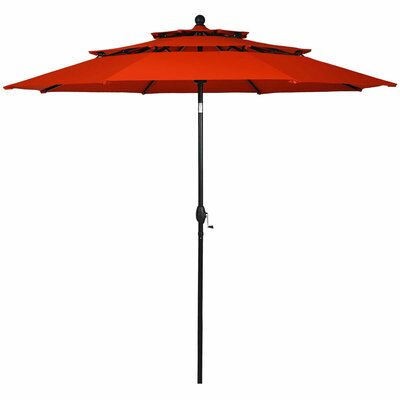Arissa 3 Tier Patio Sunshade Shelter Beach Umbrella by Ebern Designs #1