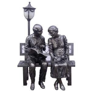 Old Couple Street Lamp Statue