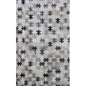 hair on hide gray area rug