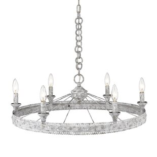 Cleo 6-Light Wagon Wheel Chandelier