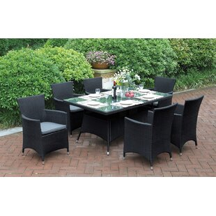 Deloris 7 Piece Dining Set with Cushions