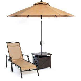 Barr Al Jissah 3 Piece Chaise Lounge Chair Set