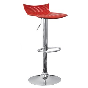 Tamara Adjustable Height Swivel Bar Stool (Set of 2) Orren Ellis