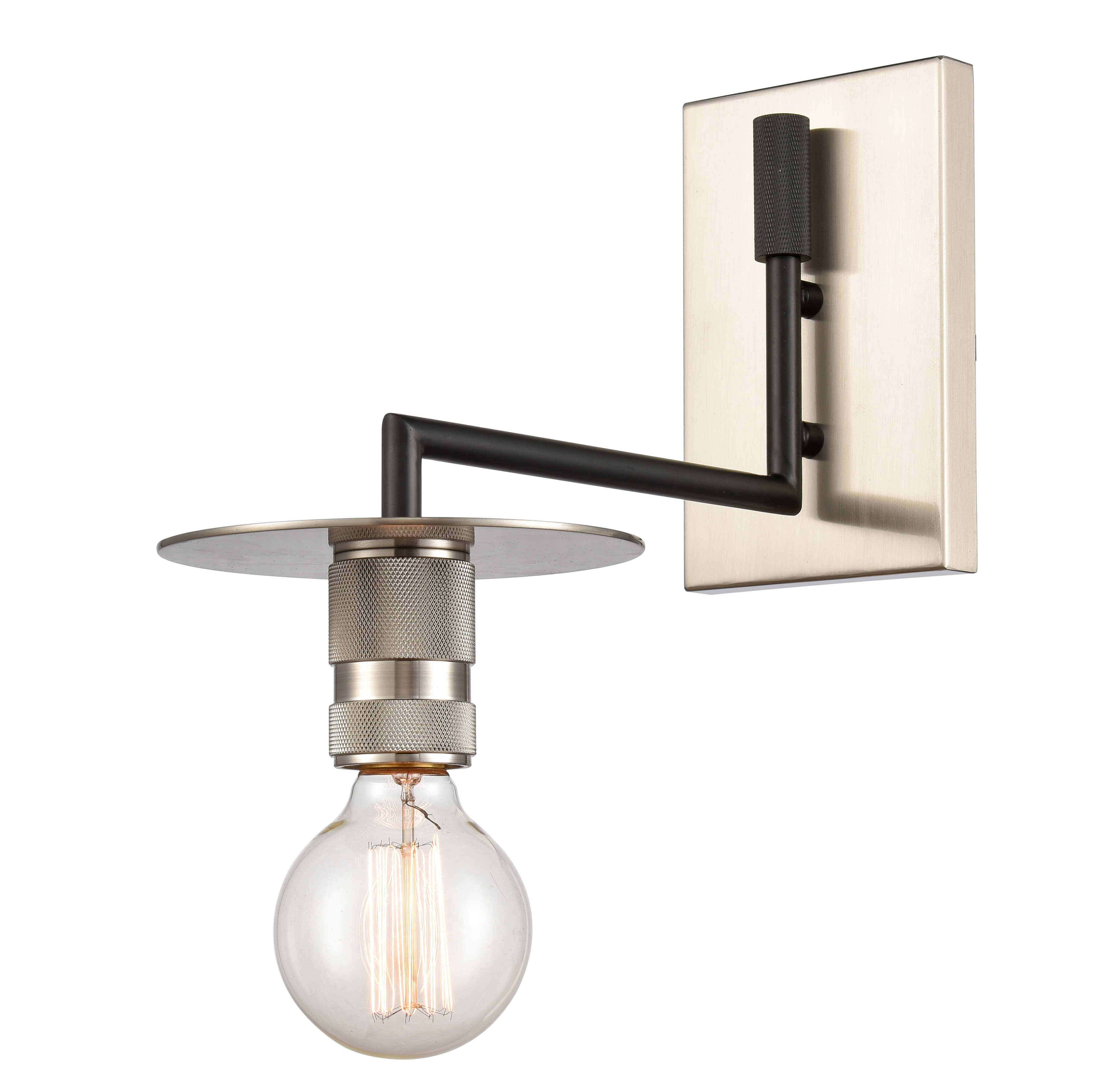 Breakwater Bay Yeager 1 Light Dimmable Armed Sconce Wayfair