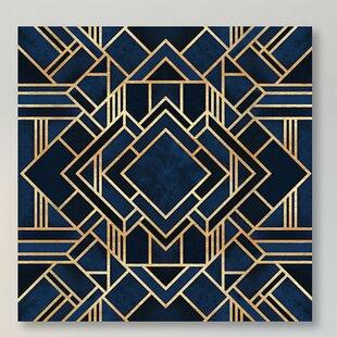 Art Deco Iii Graphic Print On Canvas