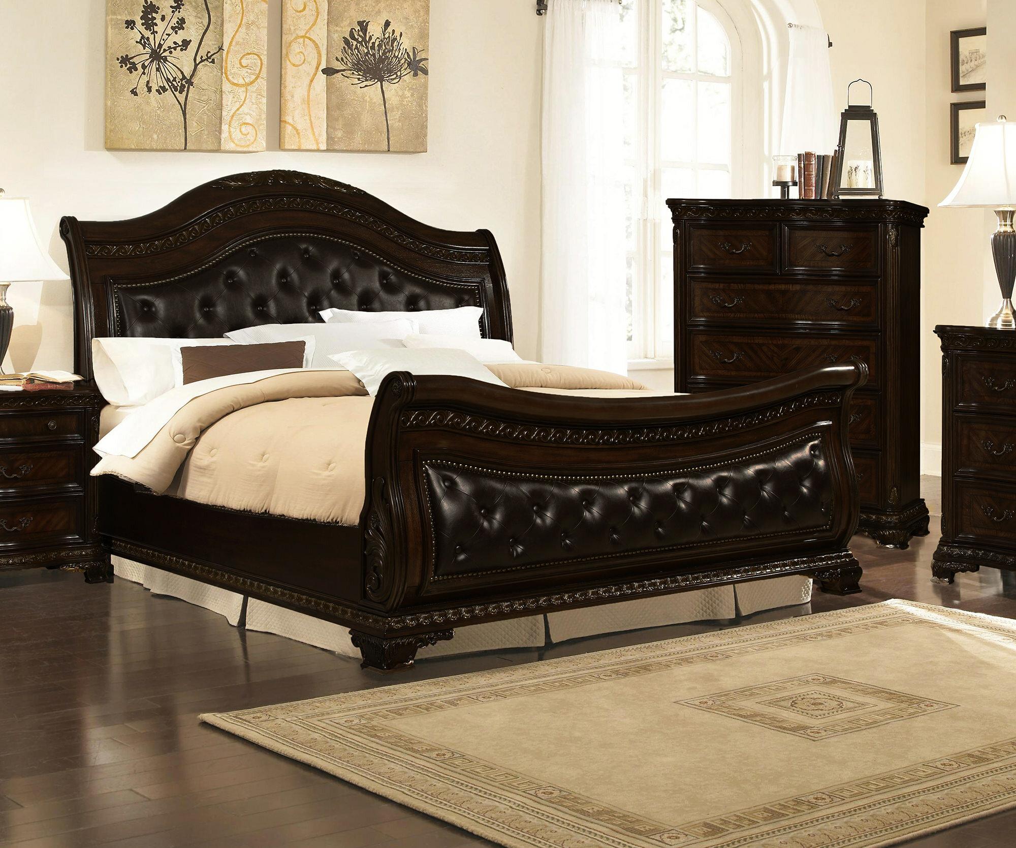 Astoria Grand Seng Upholstered Sleigh Bed Reviews Wayfair