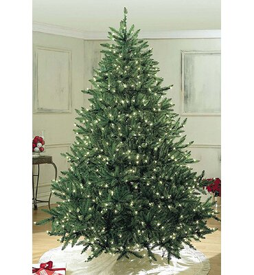 Queens of Christmas 6' Green Pine Trees Artificial Christmas Tree with 400 LED White