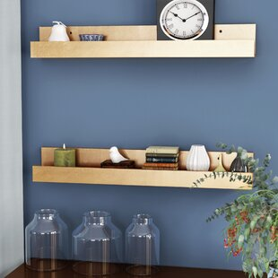 Forsyth Wood Floating Wall Shelf (Set of 2)