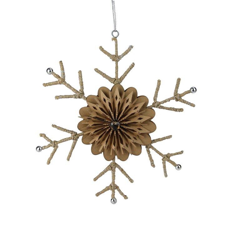 The Holiday Aisle 10 Urban Large Rustic Snowflake Christmas Shaped Ornament Wayfair