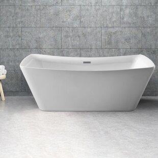 Top Reviews 62 x 24.8 Freestanding Soaking Bathtub ByWildon Home ®