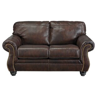 Baxter Springs Leather Loveseat by Darby Home Co Cheap