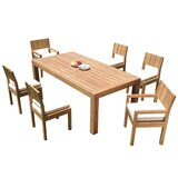 Nathen 7 Piece Teak Dining Set