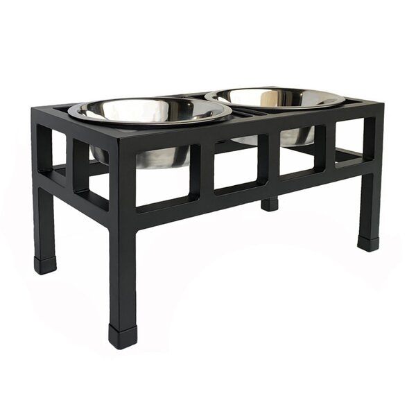 Pets Stop Four Square Steel Elevated Feeder Reviews Wayfair