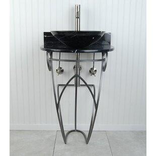 Victoria Sphere Metal 22 Pedestal Bathroom Sink D'Vontz