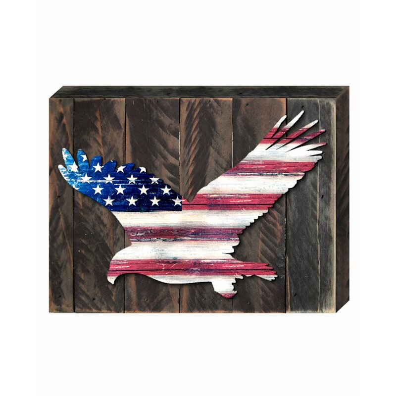 dc8f4d90812e Designocracy Eagle Vintage American Flag Let Freedom Ring Wall Décor ...