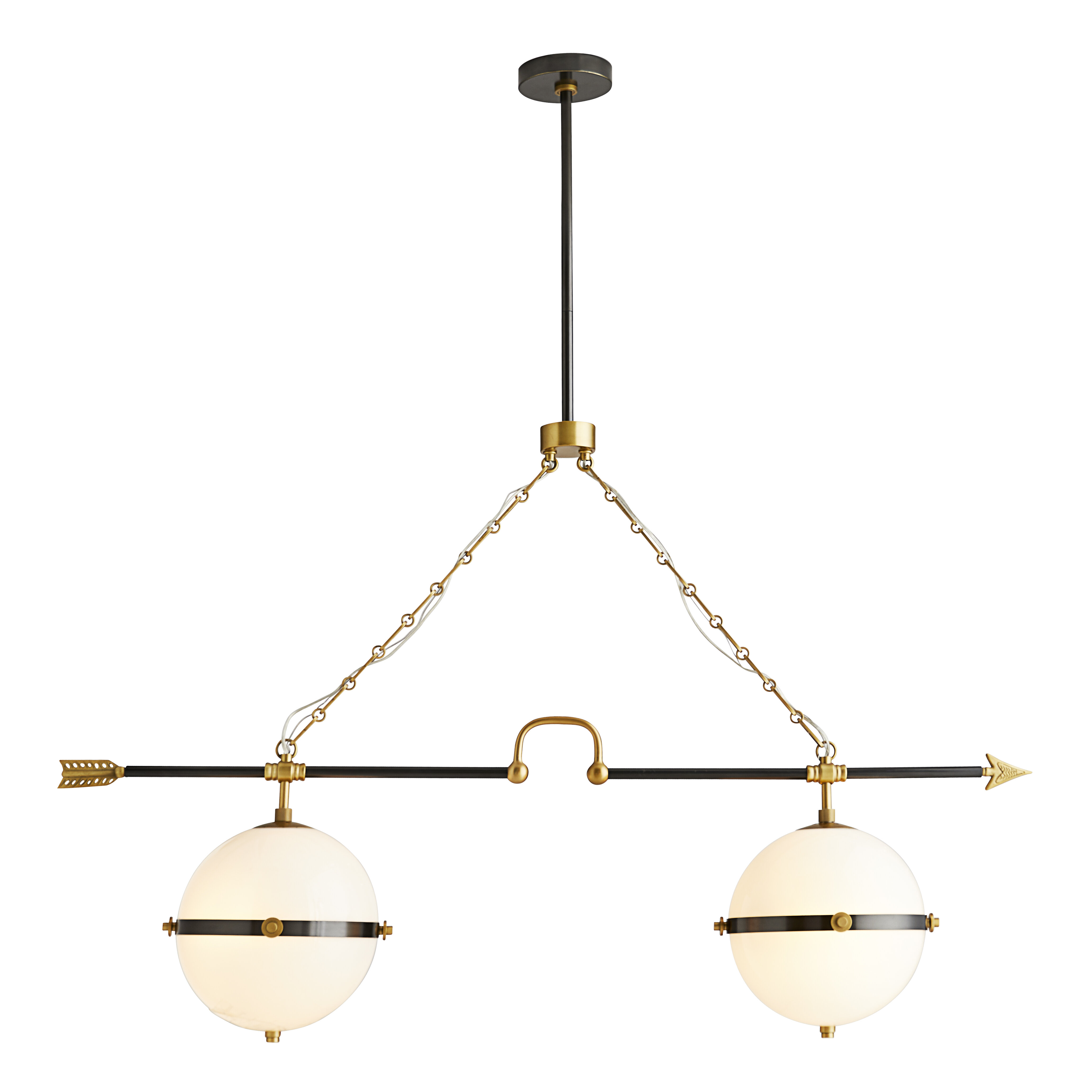 Arteriors Celestial 4 Light Kitchen Island Linear Pendant Perigold