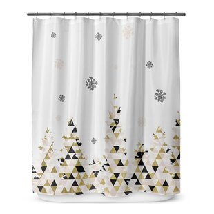 Shop For Christmas Snow 72 Shower Curtain By KAVKA DESIGNS