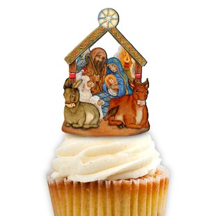 Check Prices Nativity Cake Topper By Designocracy