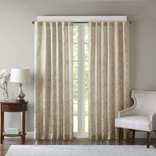 Anvers Solid Semi Sheer Rod Pocket Single Curtain Panel