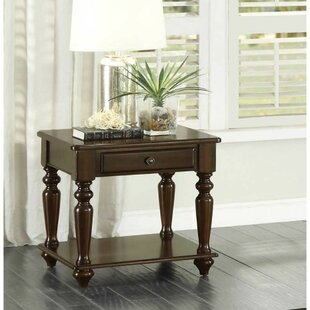Aquinas Wooden End Table with Storage