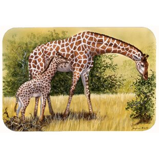 Lockheart Giraffes by Daphne Baxter Kitchen/Bath Mat