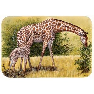 Find the perfect Lockheart Giraffes by Daphne Baxter Kitchen/Bath Mat ByBloomsbury Market