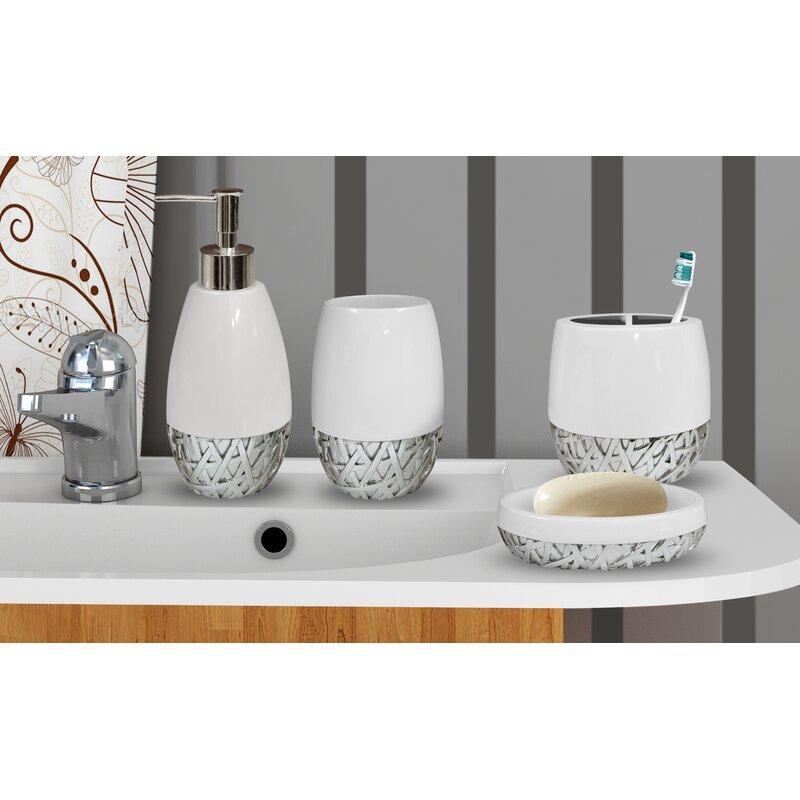 Stiltner 4 Piece Bathroom Accessory Set