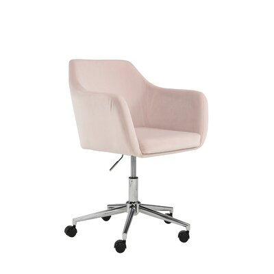 Mcwhorter Antle Upholstered Office Chair Upholstery Color: Blush Velvet by Beachcrest Home