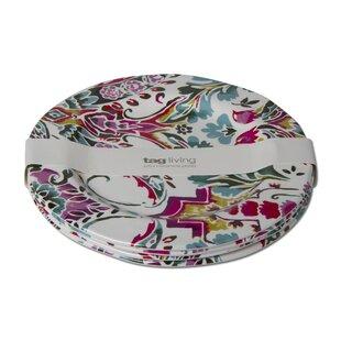 Eden 4 Piece Melamine Dinner Plate Set